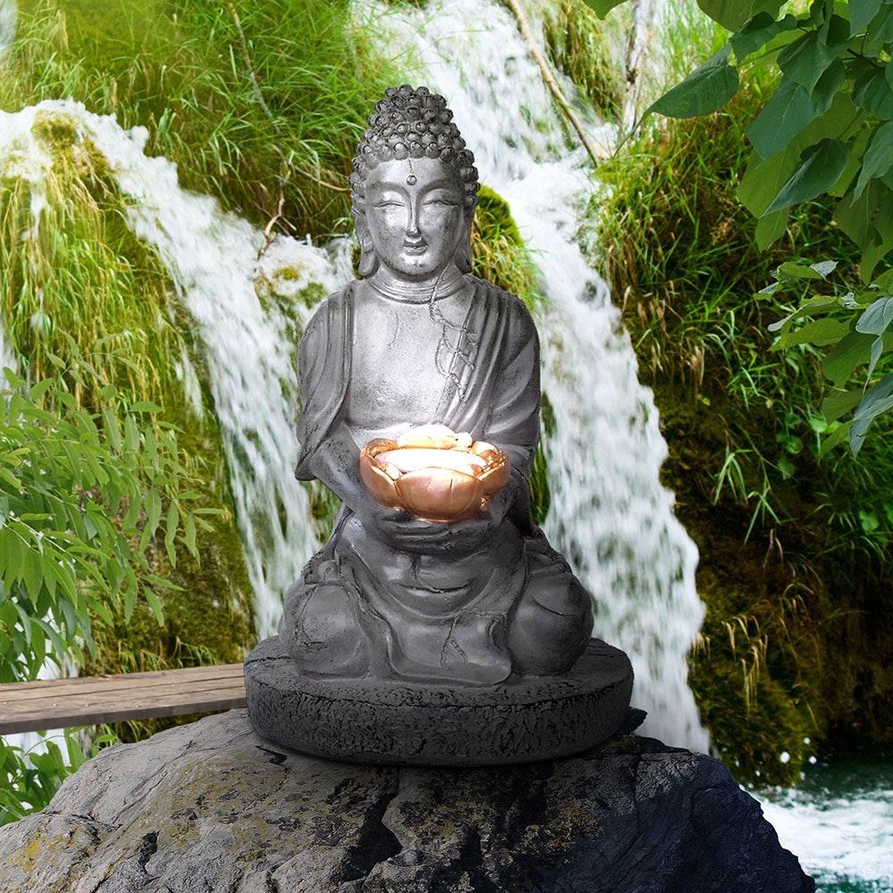 LED Garten Solarleuchte Buddha 30cm 1
