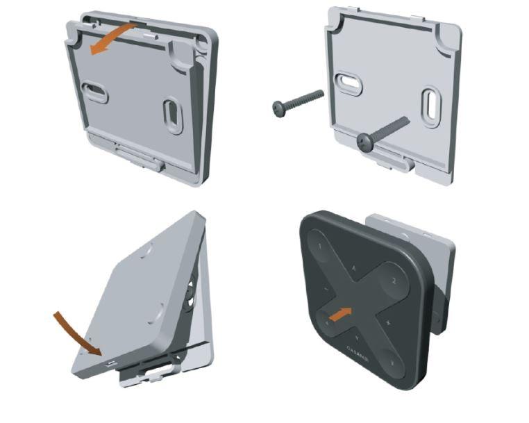 CASAMBI Xpress drahtloser Wandschalter mit Magnethalterung Schwarz 3
