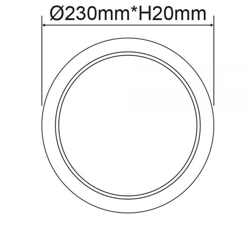Einbau LED-Panel Ø 23cm Flex dimmbar 23W Ausschnitt 5-21cm neutralweiß 2