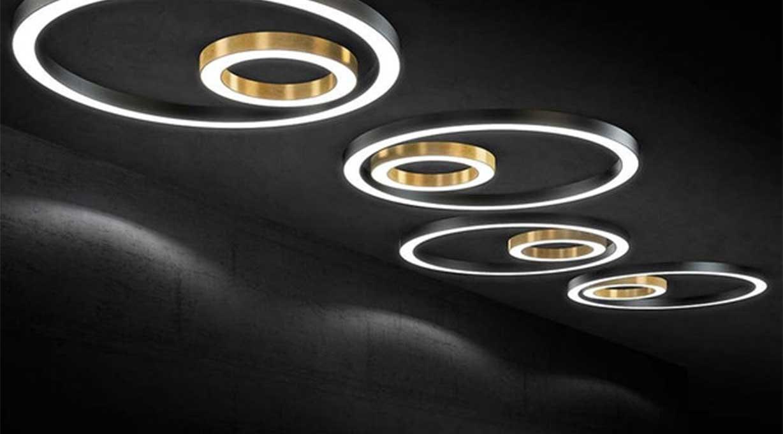Panzeri Silber LED Deckenleuchte