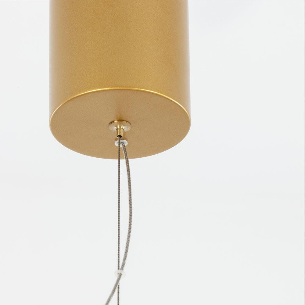 Nova Luce Sole LED-Drahtkugel Hängelampe Goldfarben 2