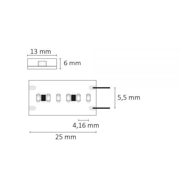 LED Strip Aqua 5m opal 10W 24V IP67 extra warmweiß 3