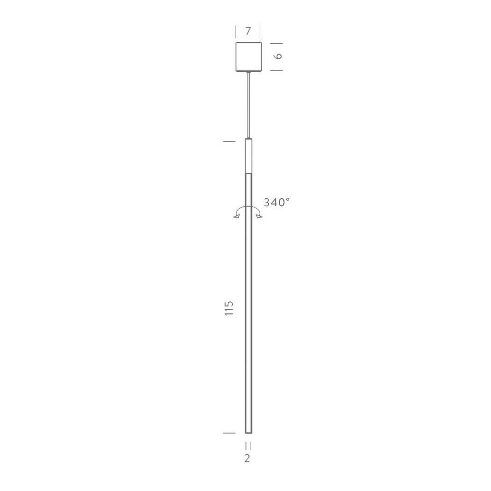 Nemo Linescapes Vertical LED Hängelampe 115cm thumbnail 5