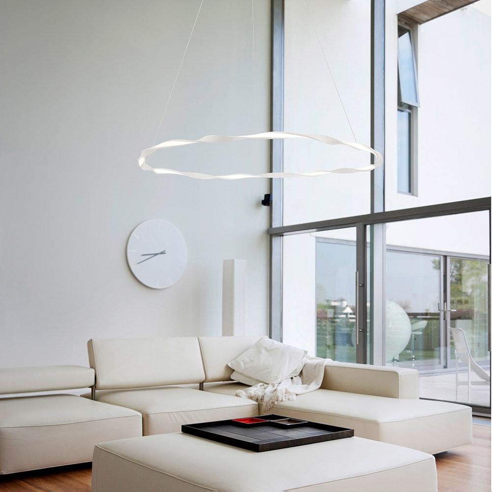 Mantra Madagascar LED-Pendelleuchte Weiß Rund 5