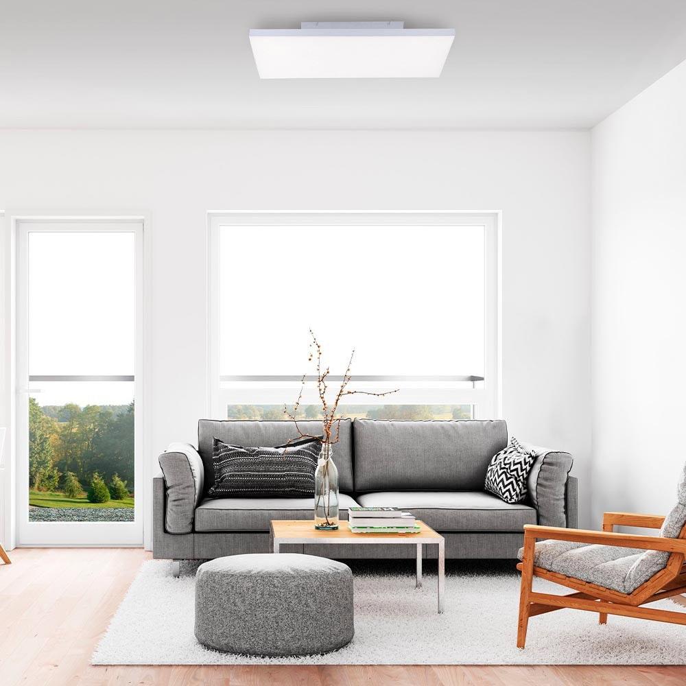 Q-Flat 2.0 rahmenlose LED Deckenlampe 60 x 30cm RGBW + FB Weiß 3