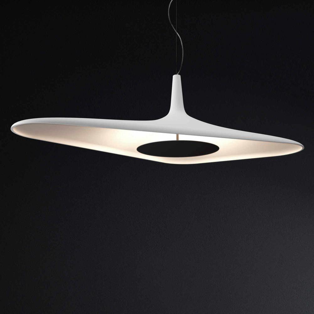 Luceplan LED Hängelampe Soleil Noir 120 x 62cm