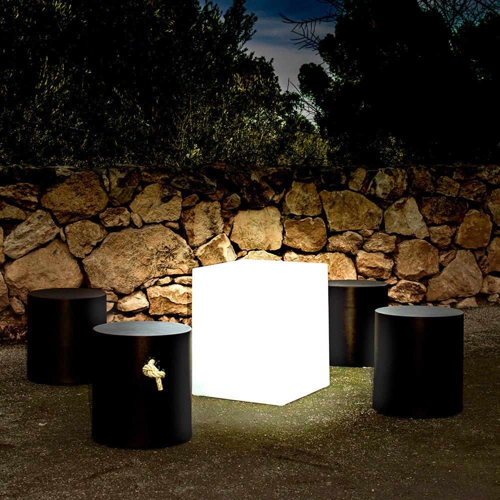 Licht-Trend Cuby LED-Dekoleuchte mit Akku und Solar 3