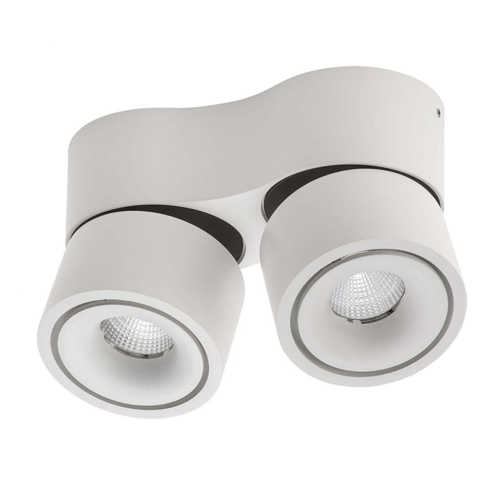 Licht-Trend LED Aufbauleuchte Simple Mini 2x550lm Weiß, Schwarz
