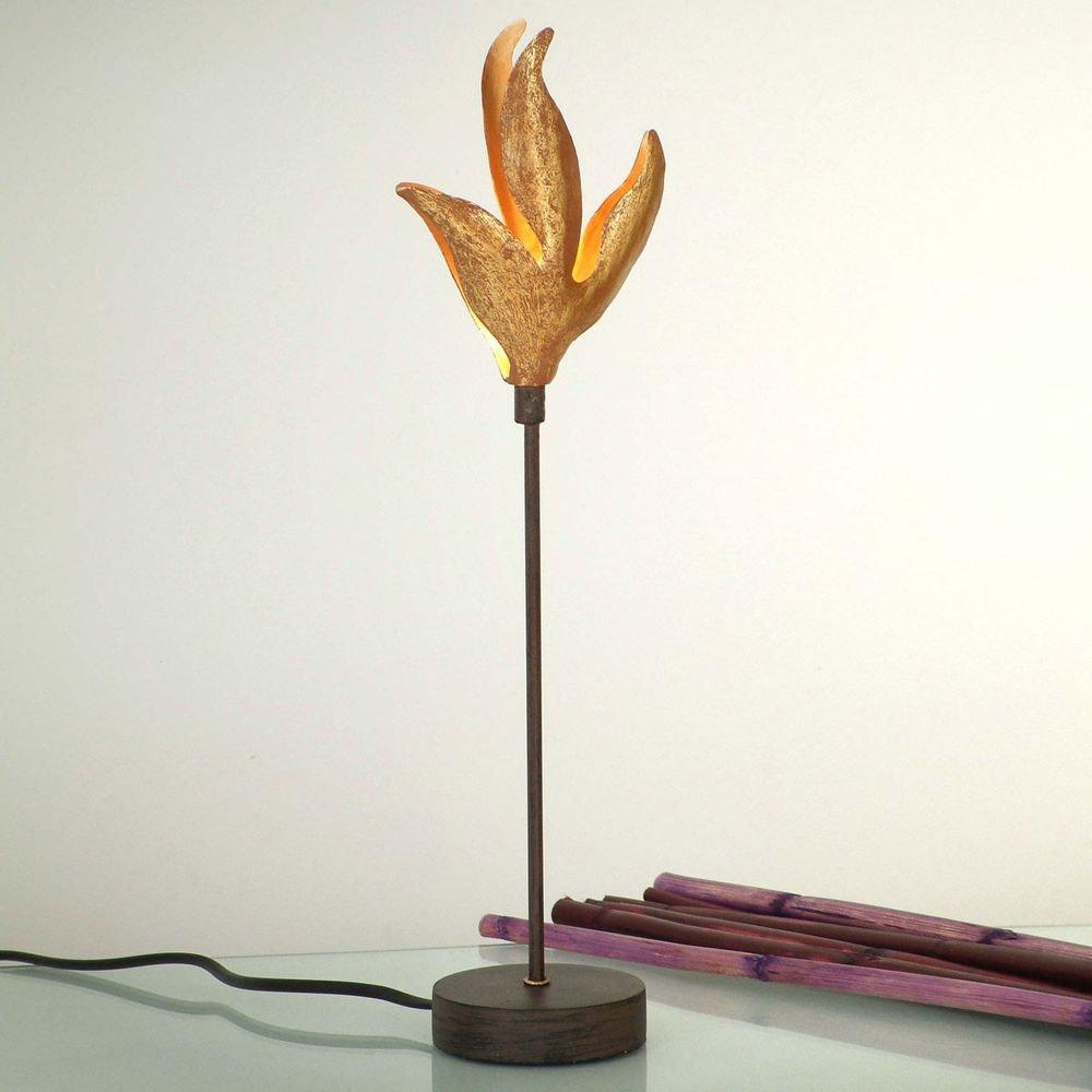 Tischleuchte Piccola Pelicano Eisen Braun-Schwarz-Gold 1
