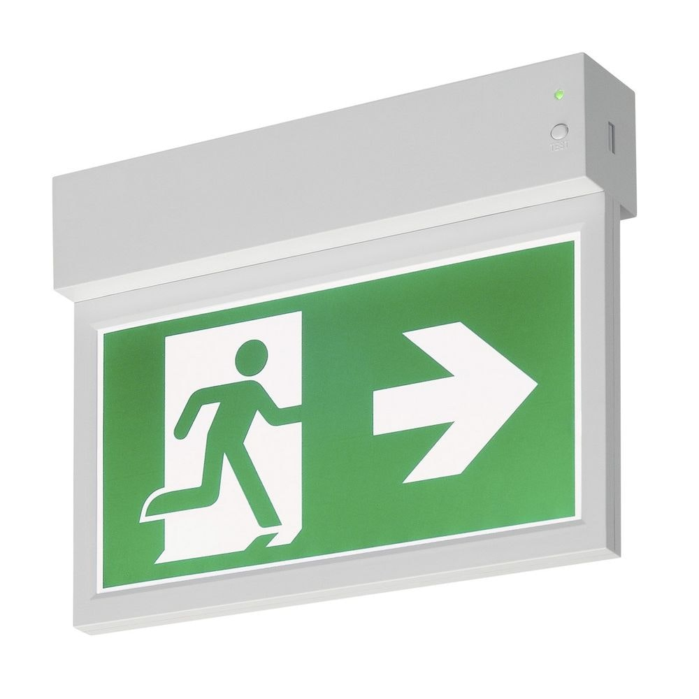 SLV P-Light Emergency Exit Sign Small Ceiling wall Weiß