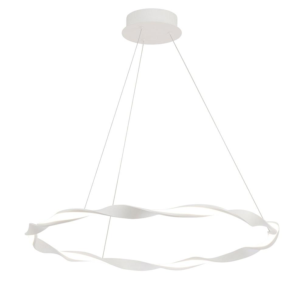 Mantra Madagascar LED-Pendelleuchte Weiß Rund 8