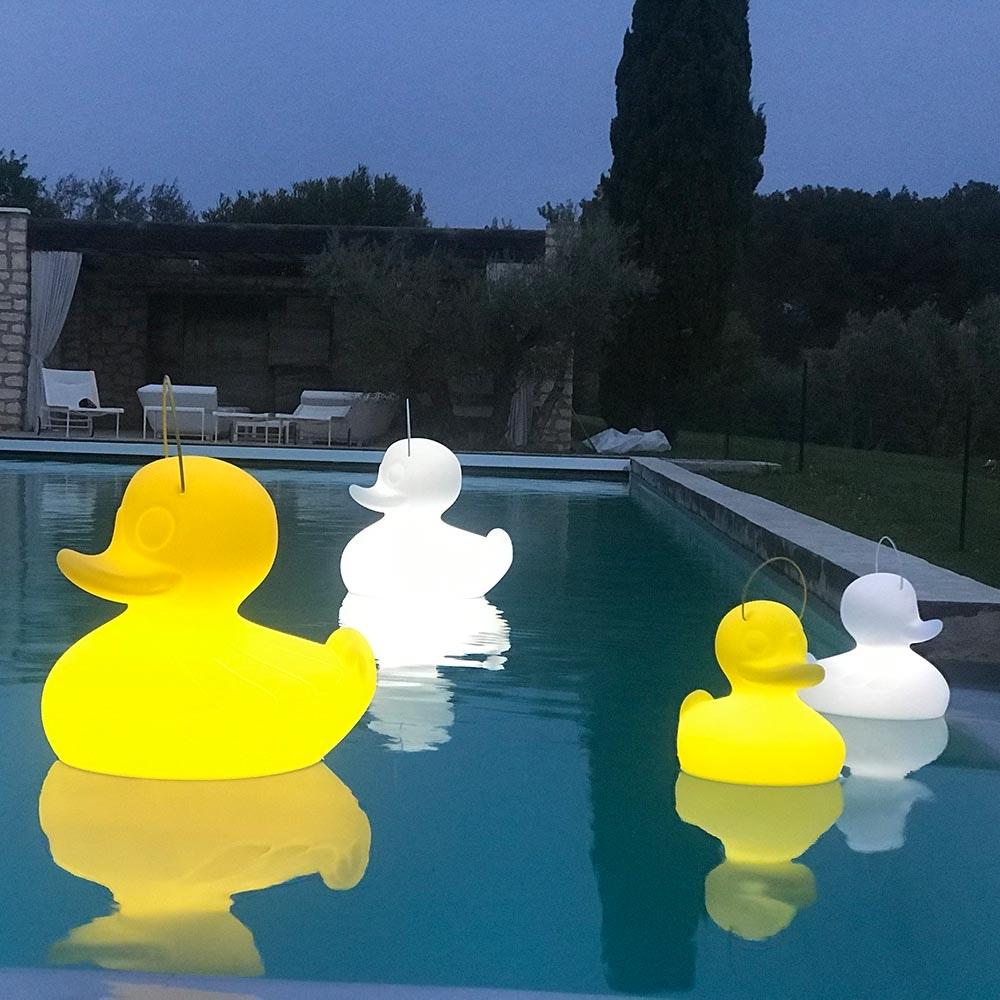 Schwimmfähige Akku-LED-Lampe Duck-Duck XL Weiß thumbnail 4
