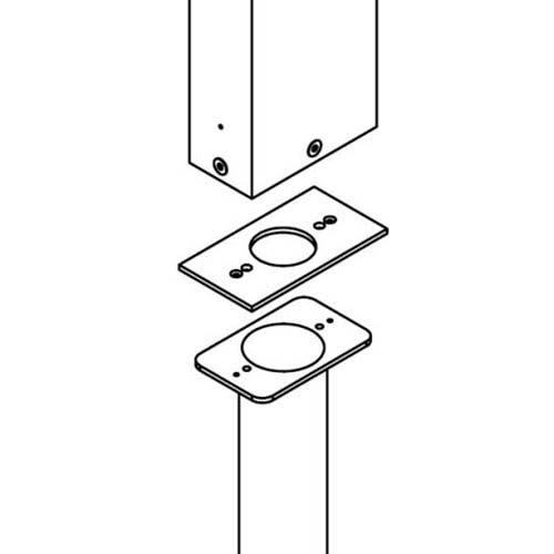 Helestra Adapterplatte für Erdstück Tendo Led