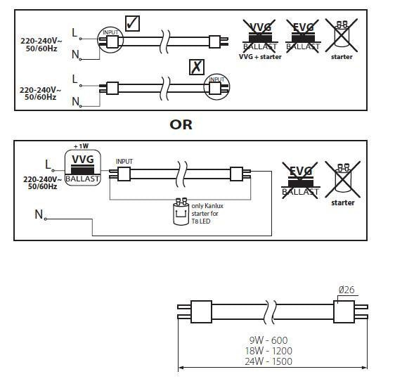 High Power LED-Röhre aus Glas 24W 150cm Neutralweiß 2