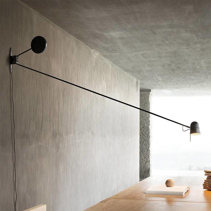 Luceplan LED Wandstrahler Counterbalance mit Gegengewicht 190cm 2