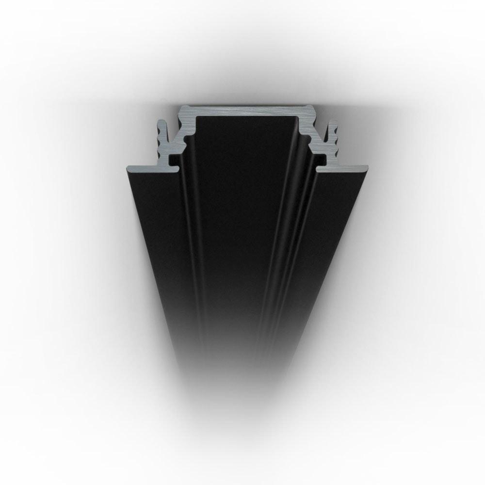 Einbauprofil flach 200cm Schwarz ohne Abdeckung für LED-Strips 3