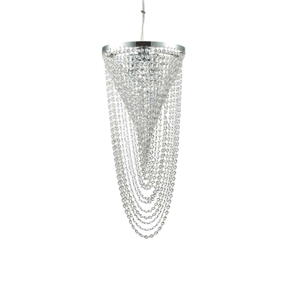 Ideal Lux Pendelleuchte Pearl 4-flg. Chrom 1