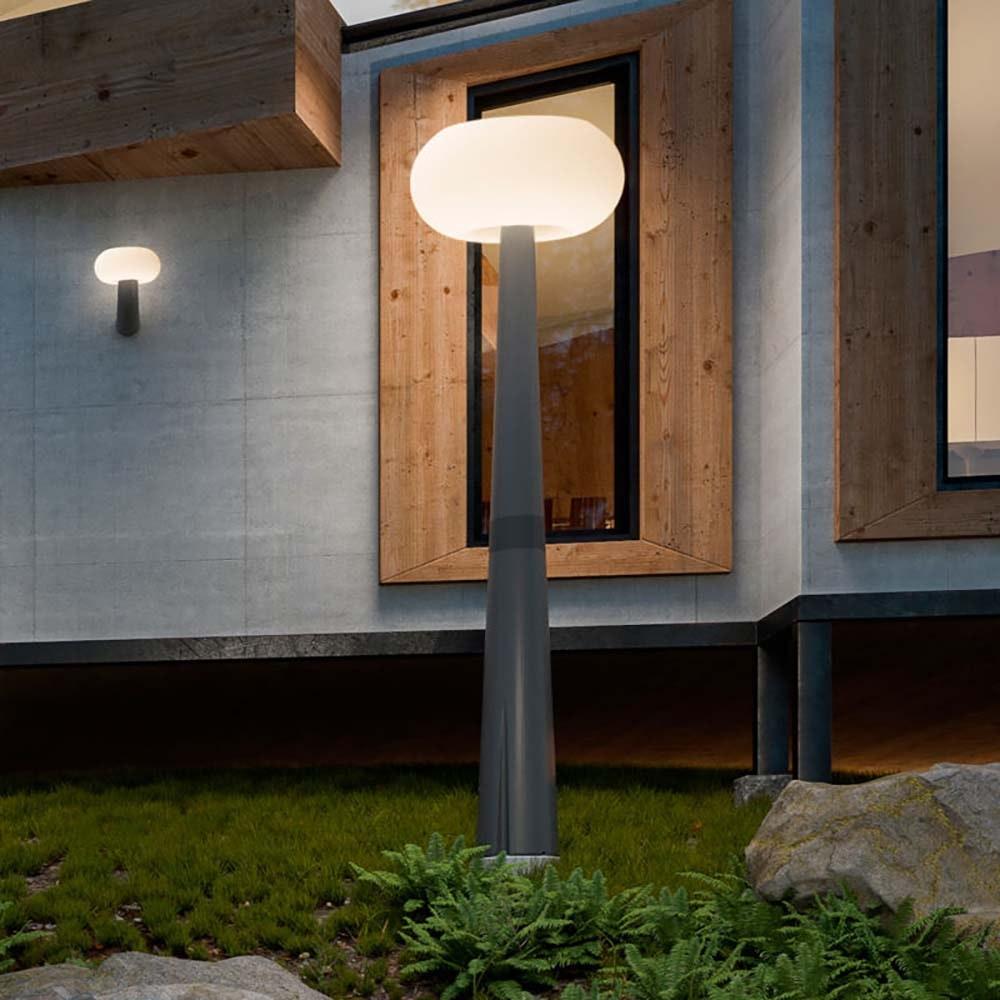 Licht-Trend LED-Solar-Mastleuchte Pepita mit Hybridsystem Grau