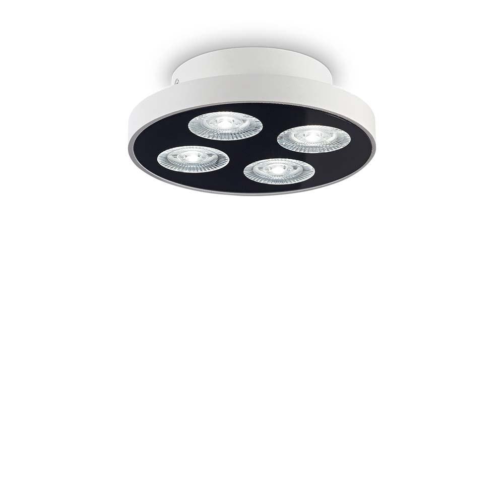 Ideal Lux LED Deckenlampe Garage 4-flg. Rund Weiß