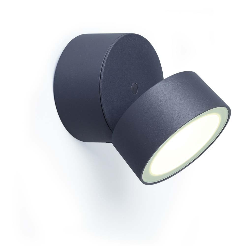 Trumpet L 90° schwenkbare LED-Außenwandleuchte IP54 Anthrazit 2