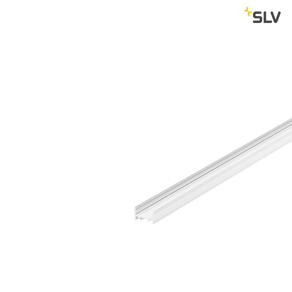 SLV Grazia 20 LED Aufbauprofil Flach Gerillt 1m Weiß