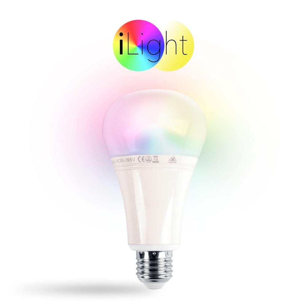s.LUCE iLight E27 LED-Leuchtmittel 12W RGB + CCT