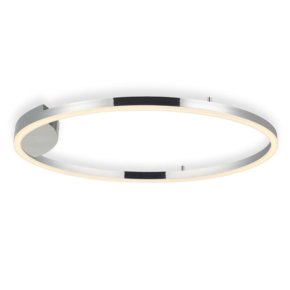 s.LUCE LED Ring 100 Wand & Decke Dimmbar Chrom 3