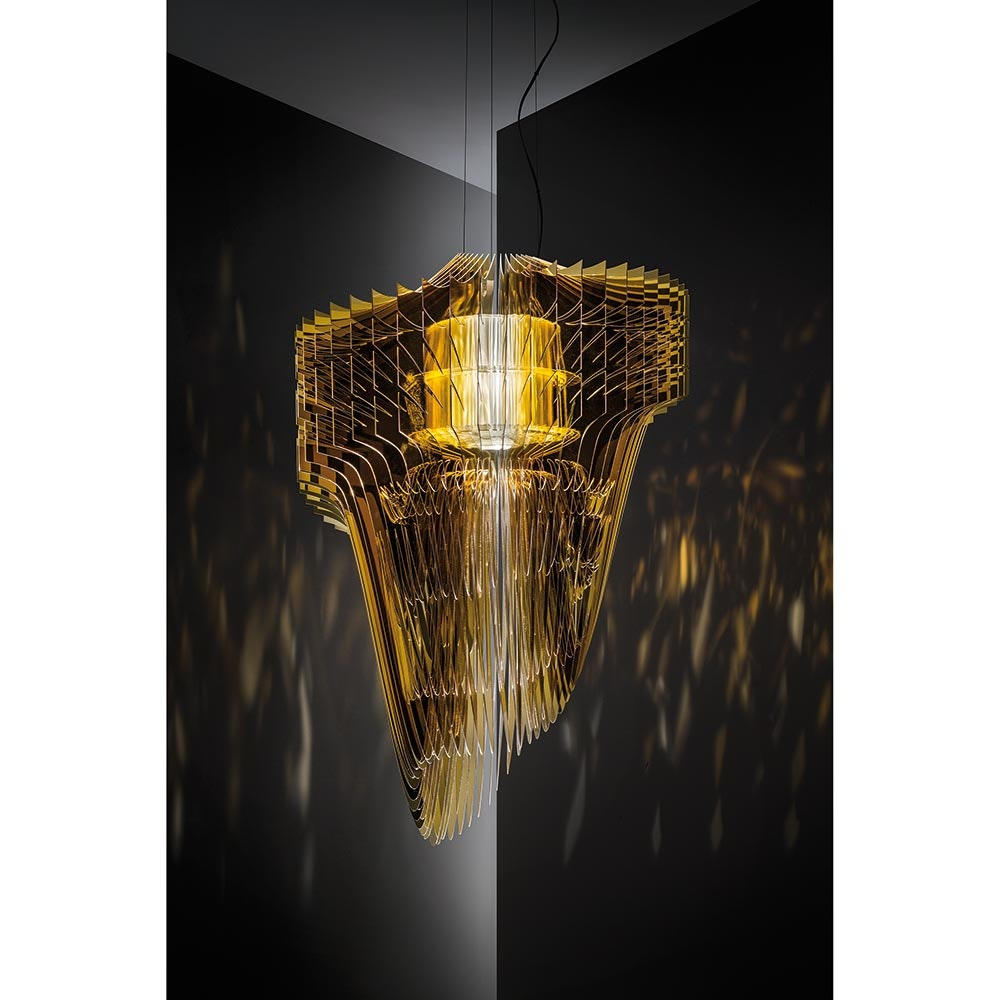 Slamp LED Pendelleuchte Aria Small 3500lm 2700K Gold 2