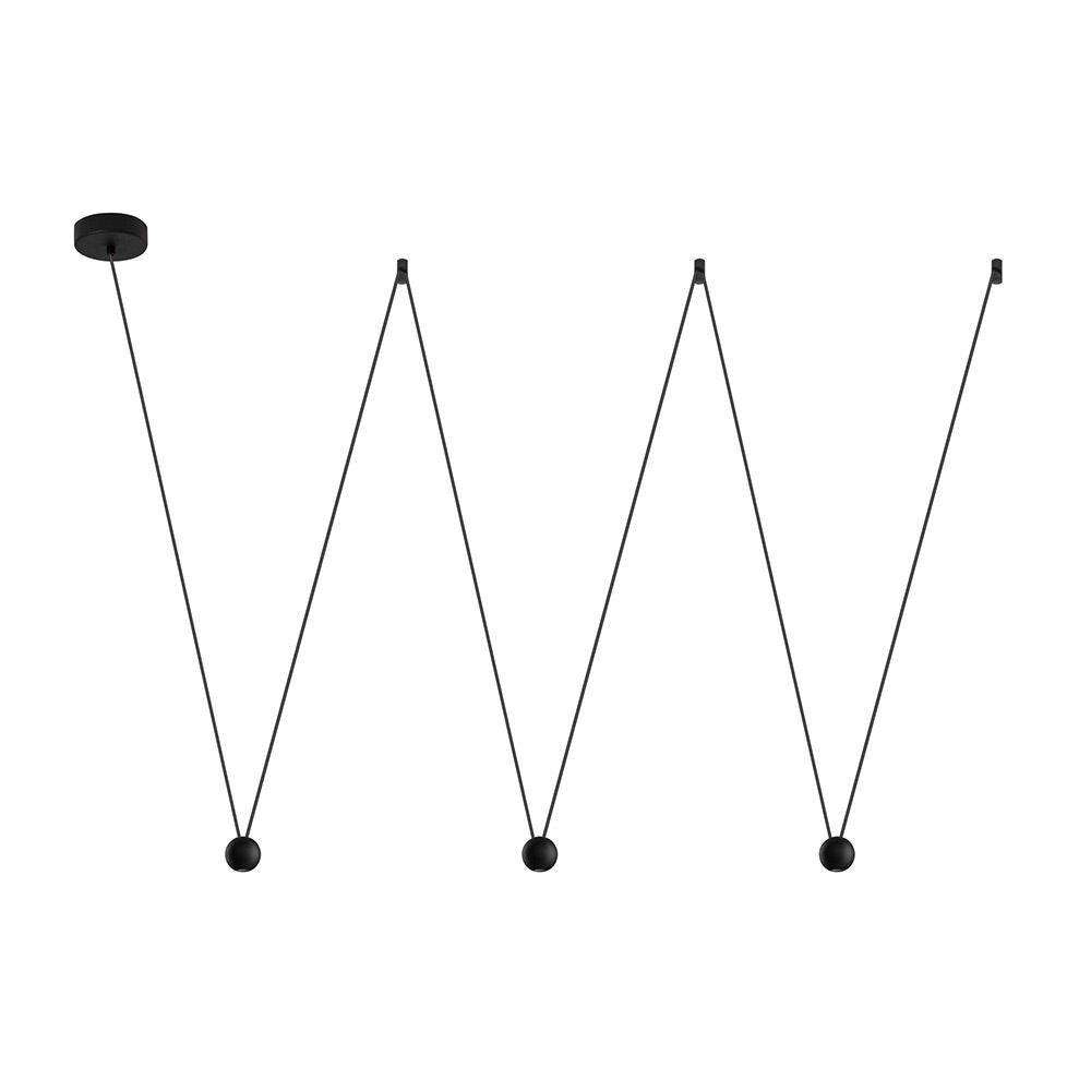 Nocci LED-Hängelampe 3-flammig Schwarz 2