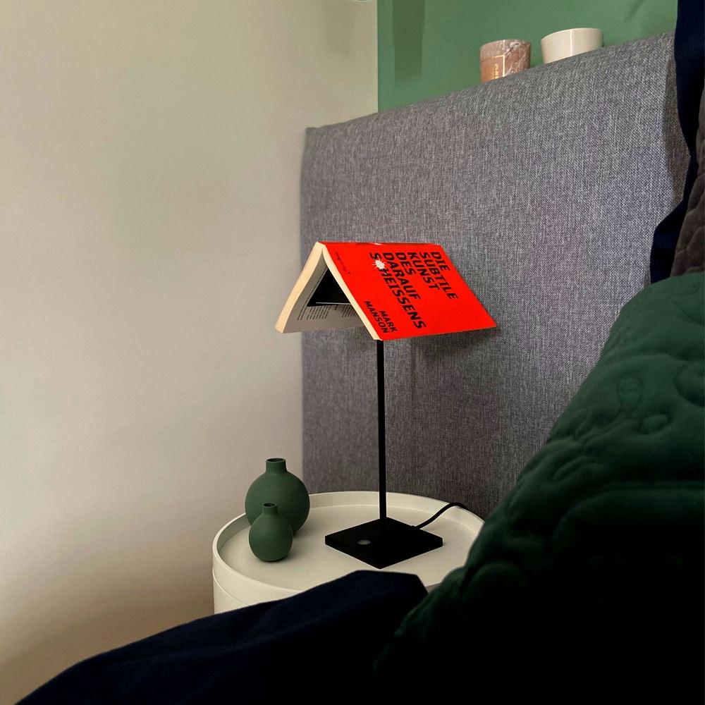 s.LUCE Book Buchständer Tischleuchte mit Touchdimmer & Sensor 9