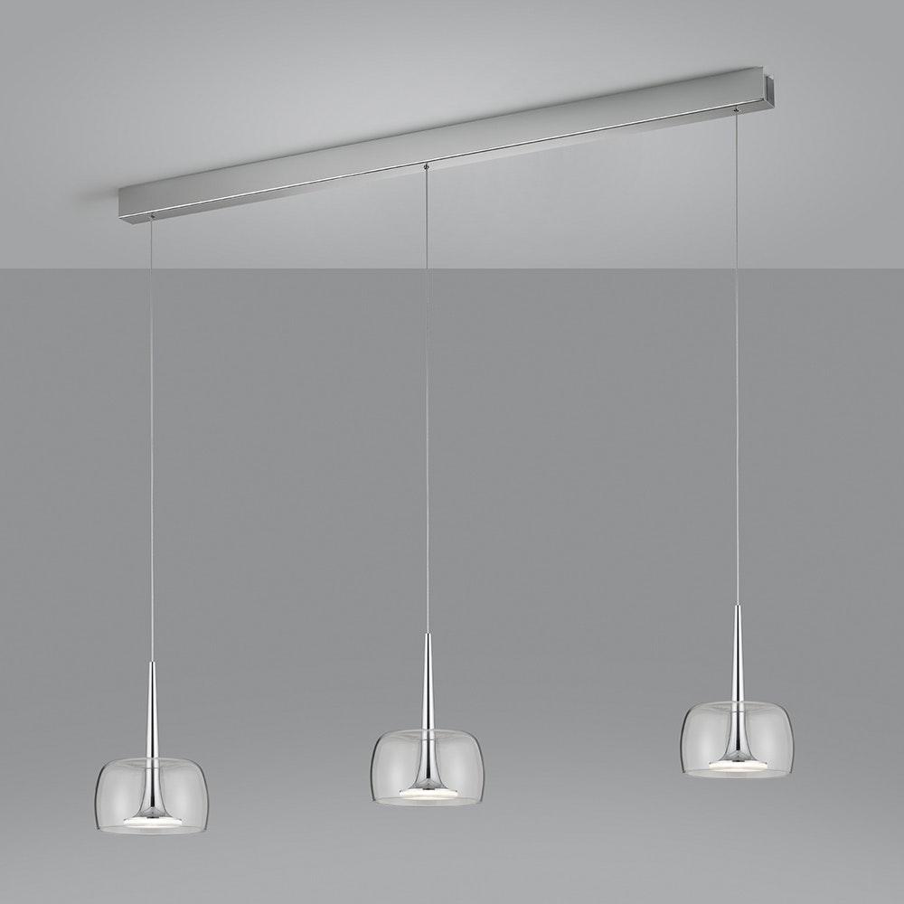 Helestra LED Pendelleuchte Flute Chrom 3