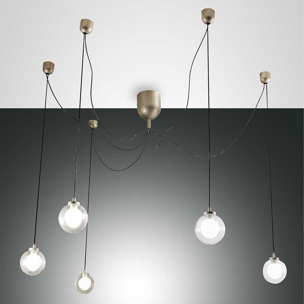 Fabas Luce LED Pendellampe Blog aus Metall 4
