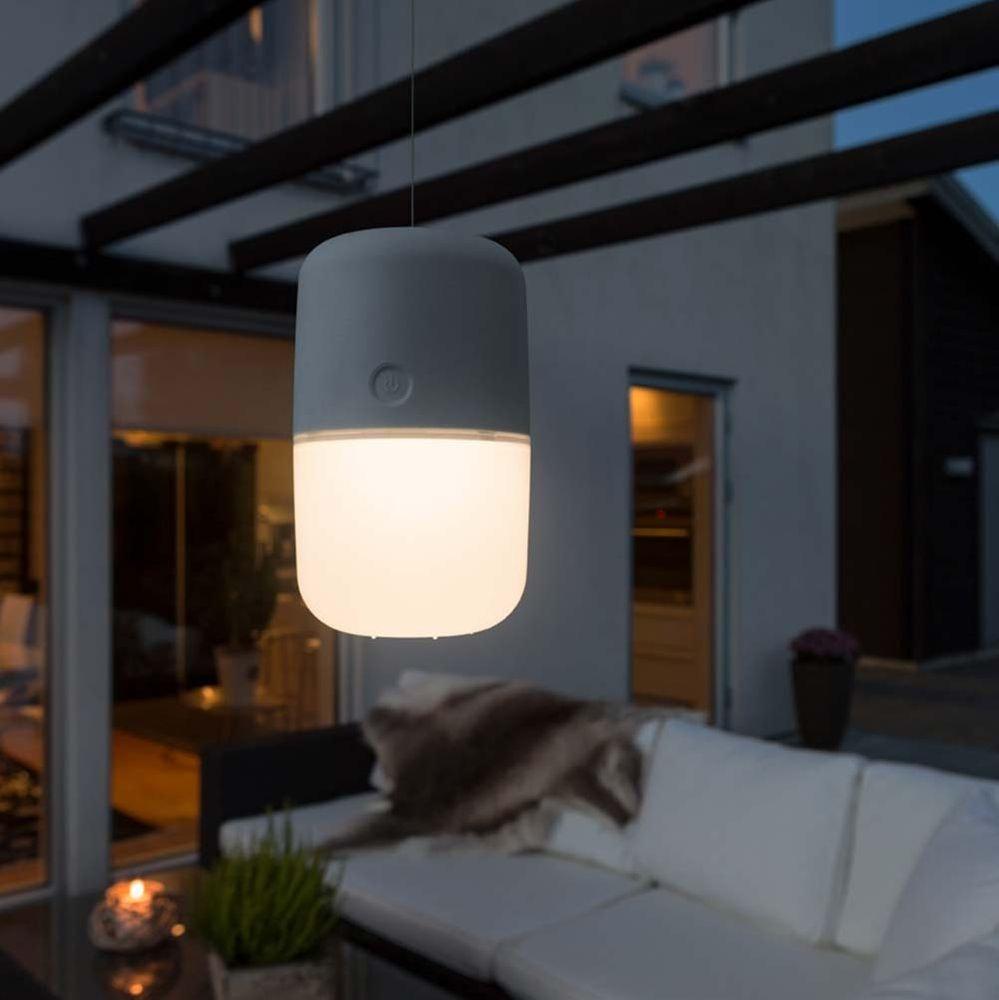 LED Solarleuchte Assisi zum Hängen oder Hinstellen Grau 1
