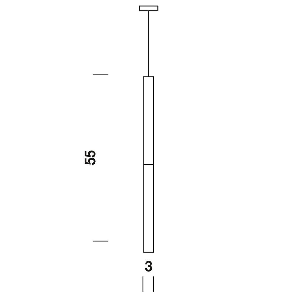 Panzeri Candle LED-Pendelleuchte Glaszylinder thumbnail 3