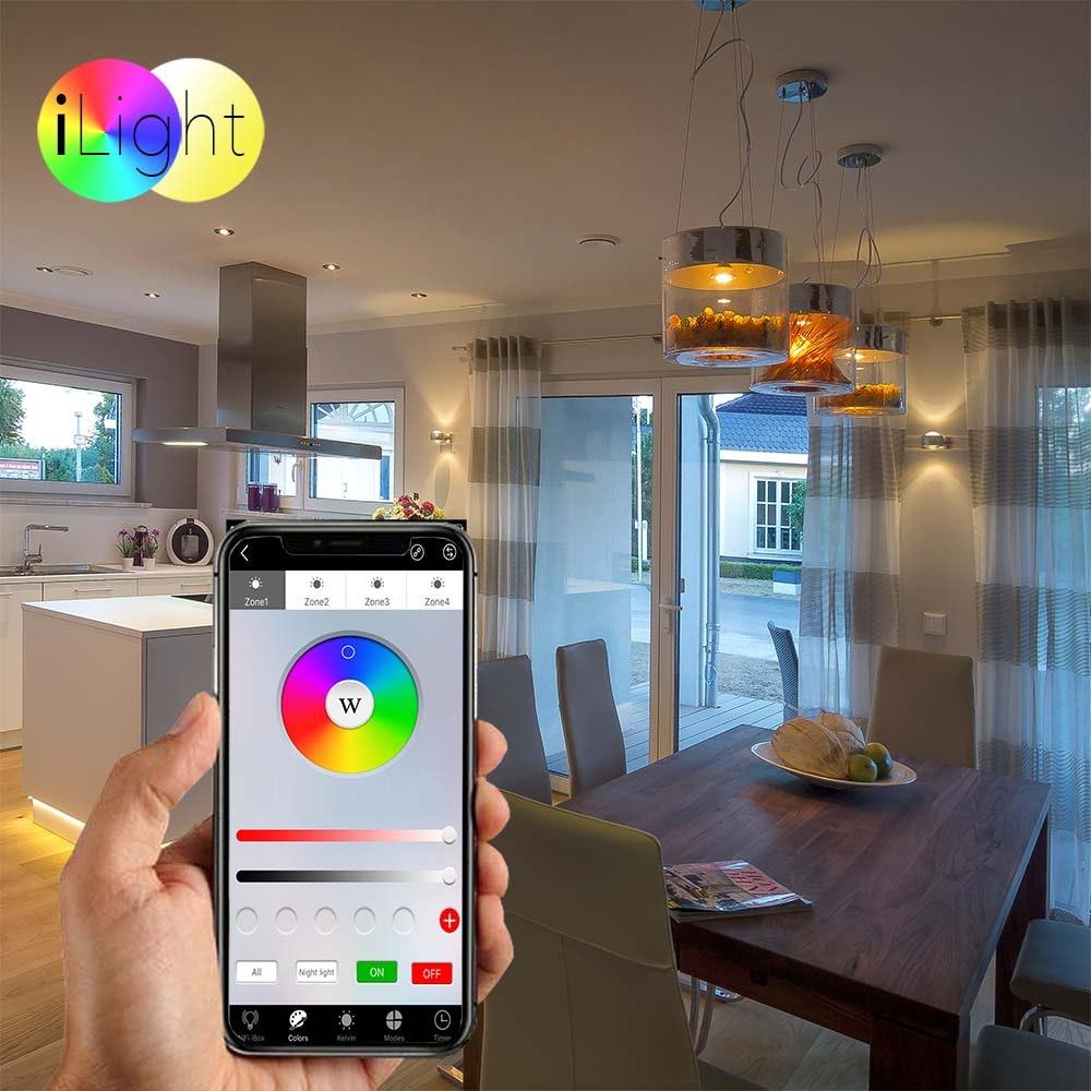 s.LUCE iLight E27 LED Glühbirne 6W RGB+CCT 2