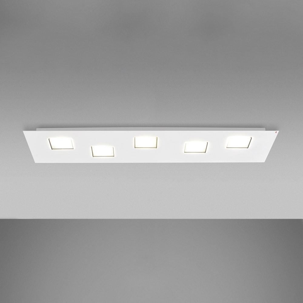 Fabbian Quarter LED-Deckenleuchte rechteckig 5-flammig 1