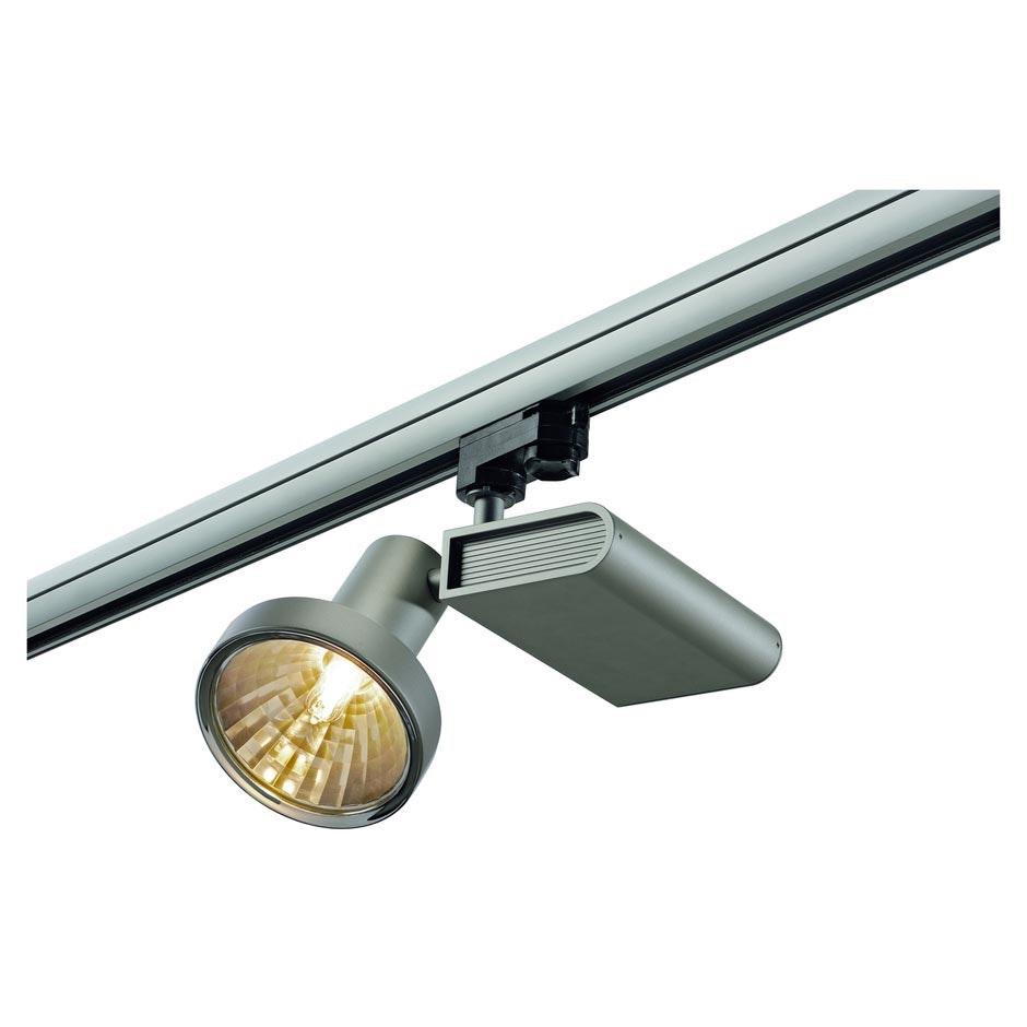 SLV SLEEK Spot G12 Silbergrau 70W inkl. 16° Reflektor und 3P.-Adapter 2