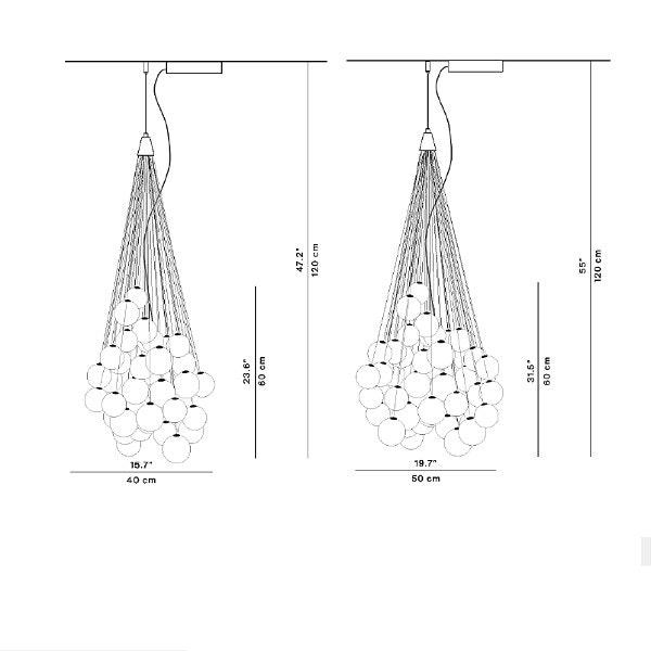 Luceplan Stochastic LED Hängelampe (Structur ohne Kugeln & Stangen) 2
