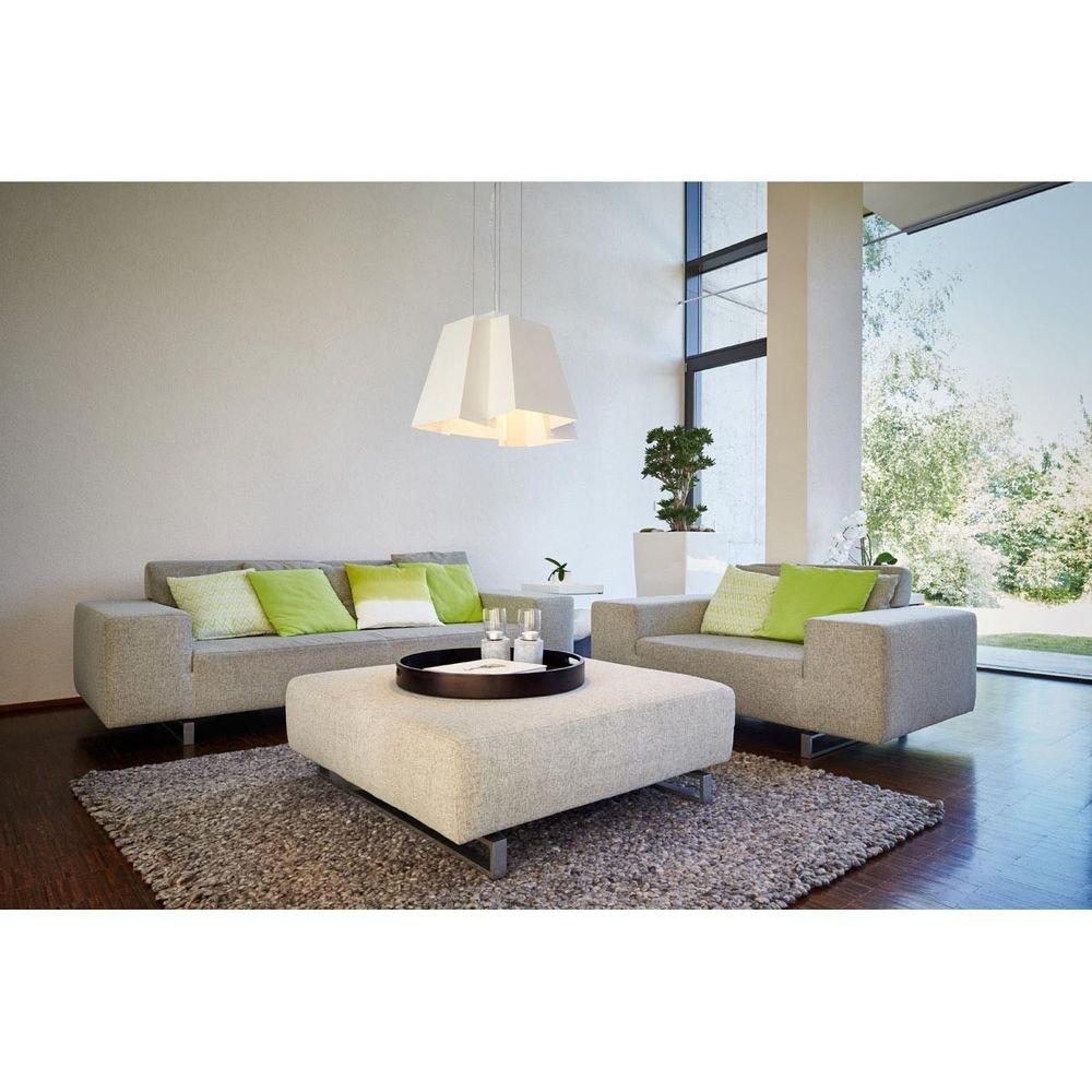 SLV SOBERBIA LED Pendelleuchte 60 eckig Weiß 60 SMD LED 20W 3000K 5