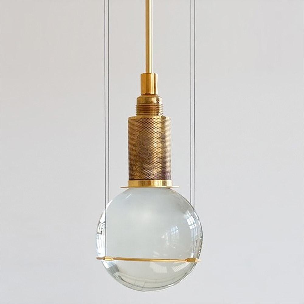 Tecnolumen LED-Hängeleuchte Le tre streghe  Muranoglas Gold 1