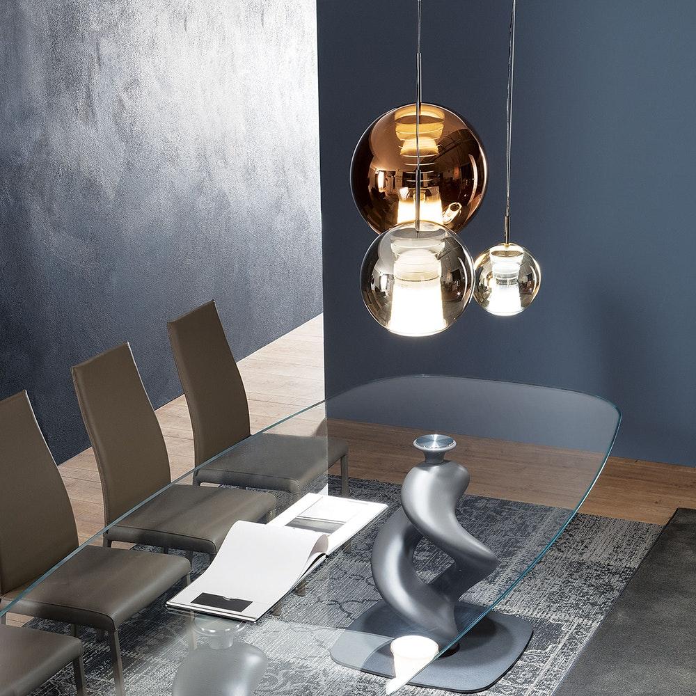 Fabbian Beluga Royal LED-Pendelleuchte Ø30cm 1