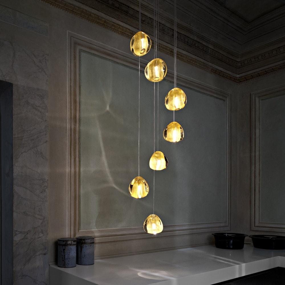 Terzani Mizu Design Hängeleuchte 7-flammig Ø 31cm 5