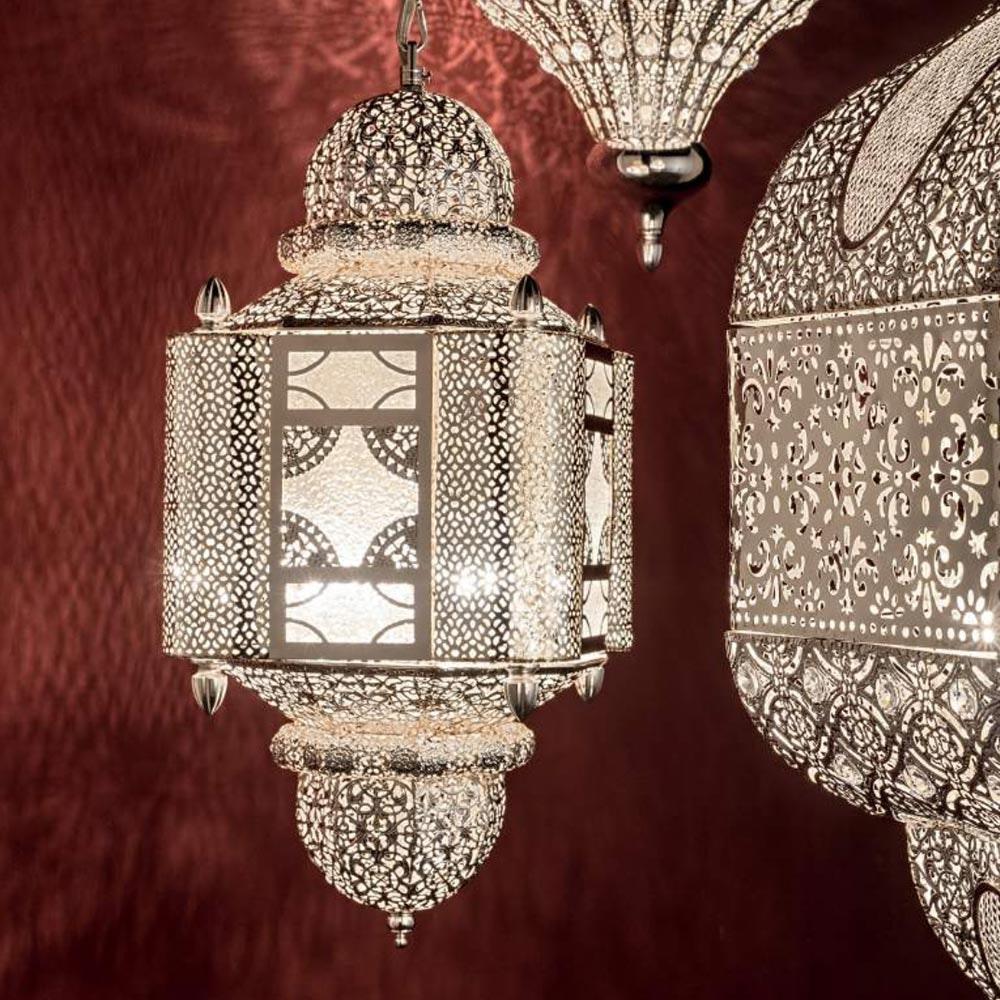 Nawa orientalische Hängeleuchte Ø 25cm Silber 1