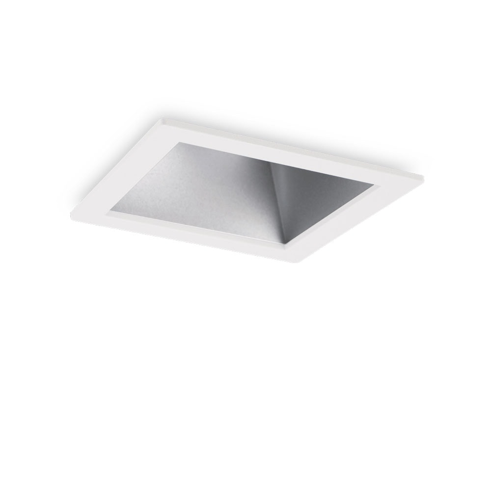 Ideal Lux Einbaustrahler Game Square Weiss Silber 1