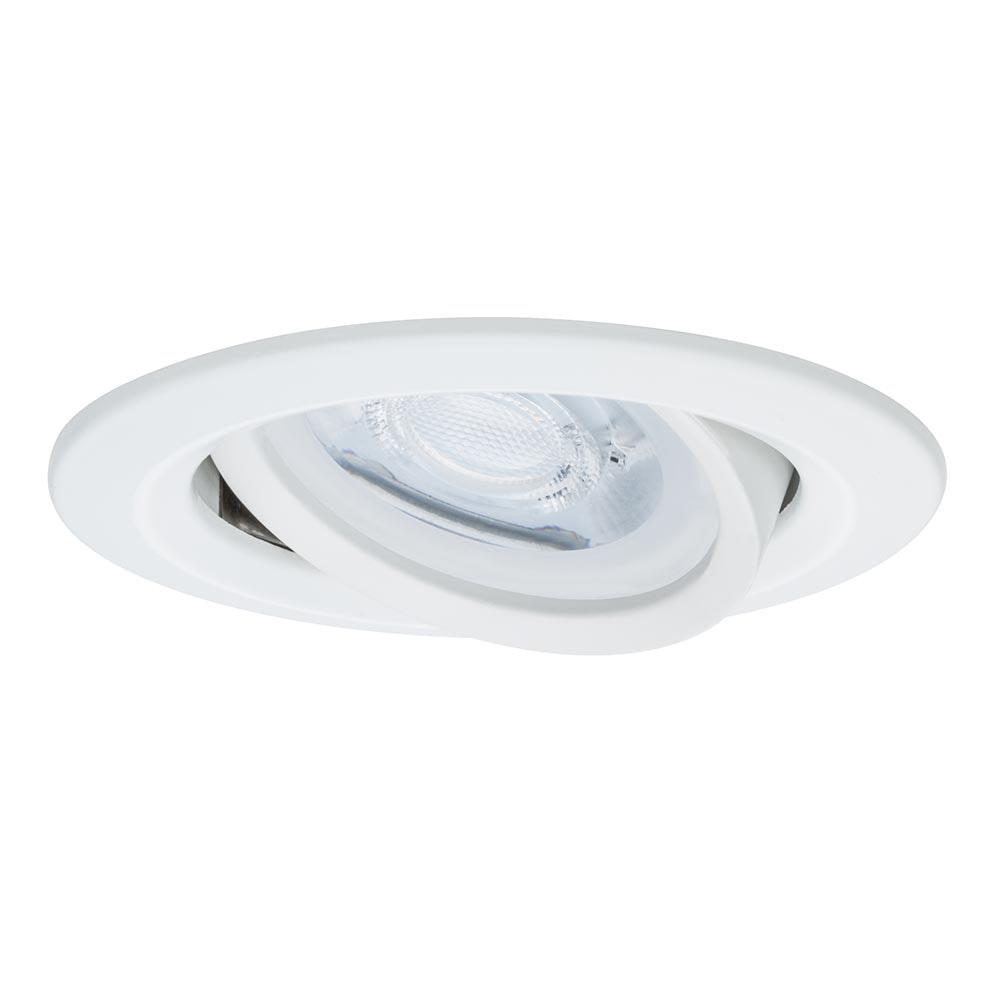 Einbauleuchte LED Nova IP23 rund 7W GU10 Weiß dimm- & schwenkbar 2