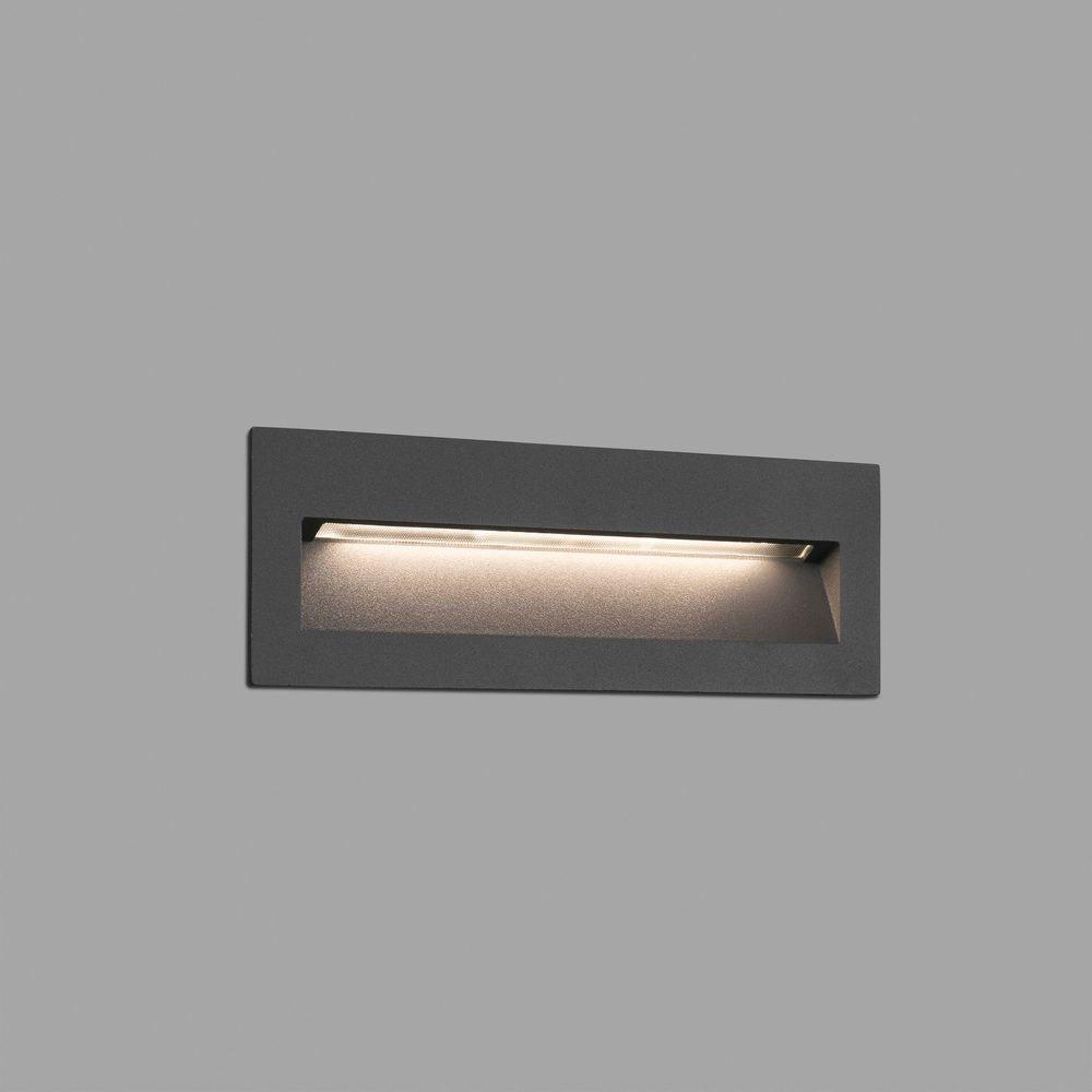LED Wand-Einbauleuchte NAT IP65 Dunkelgrau 2