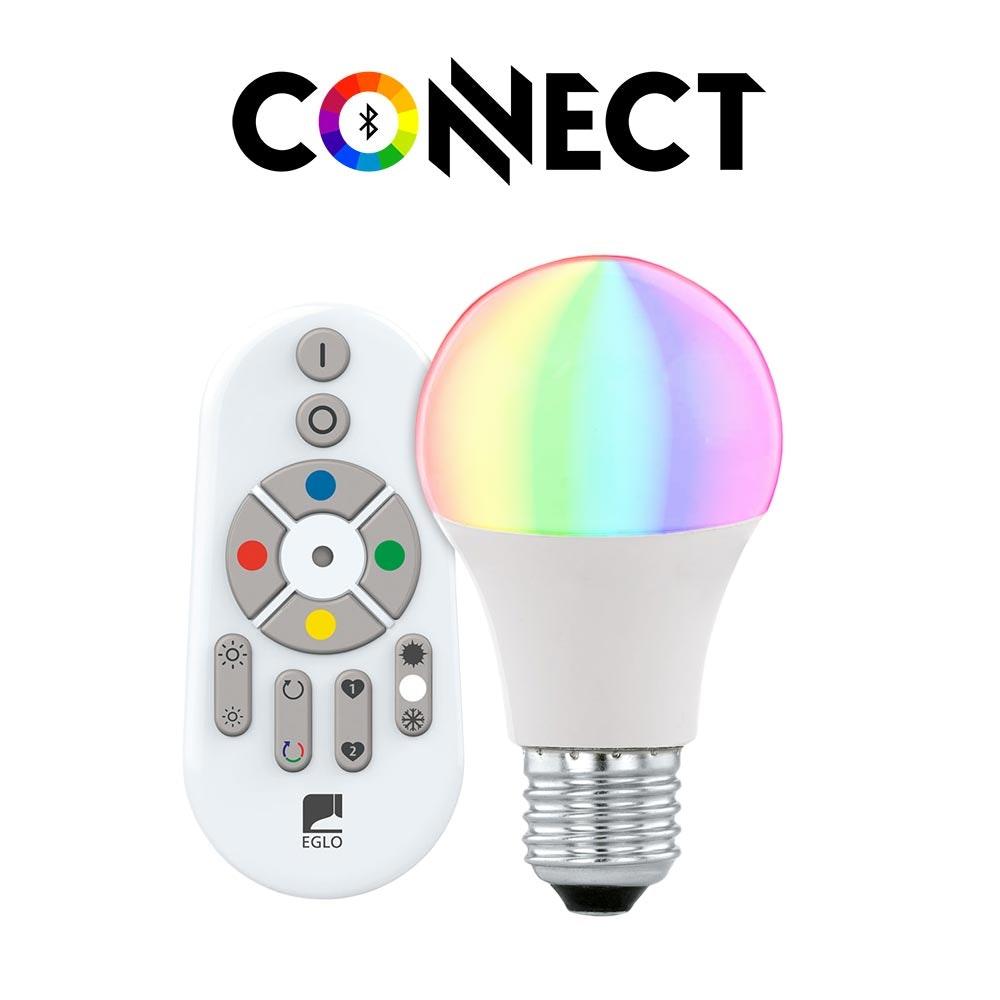 Connect E27 LED + Fernbedienung 806lm RGBW CCT 1