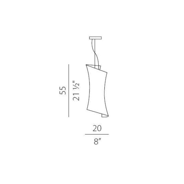Panzeri Twister Glas-Pendellampe thumbnail 3