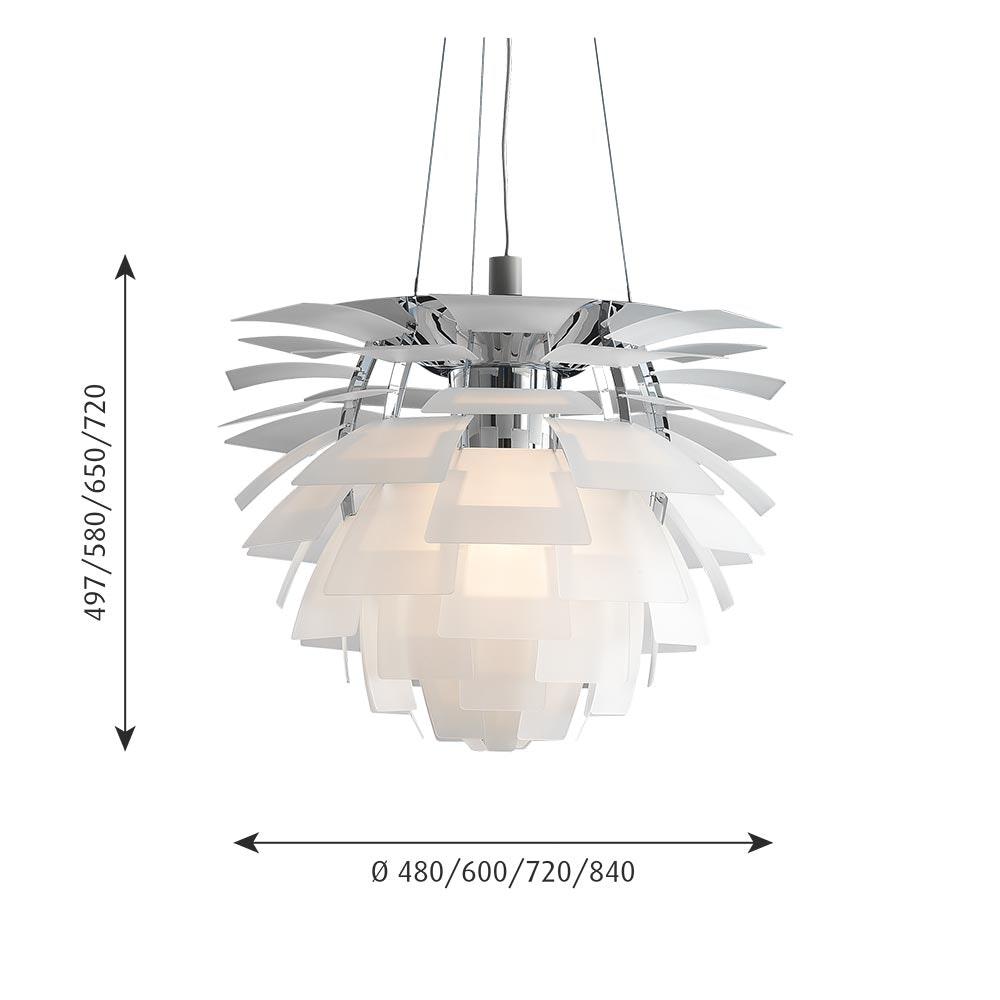 Louis Poulsen LED Hängelampe PH Artichoke Glas Sandgestrahlt thumbnail 5