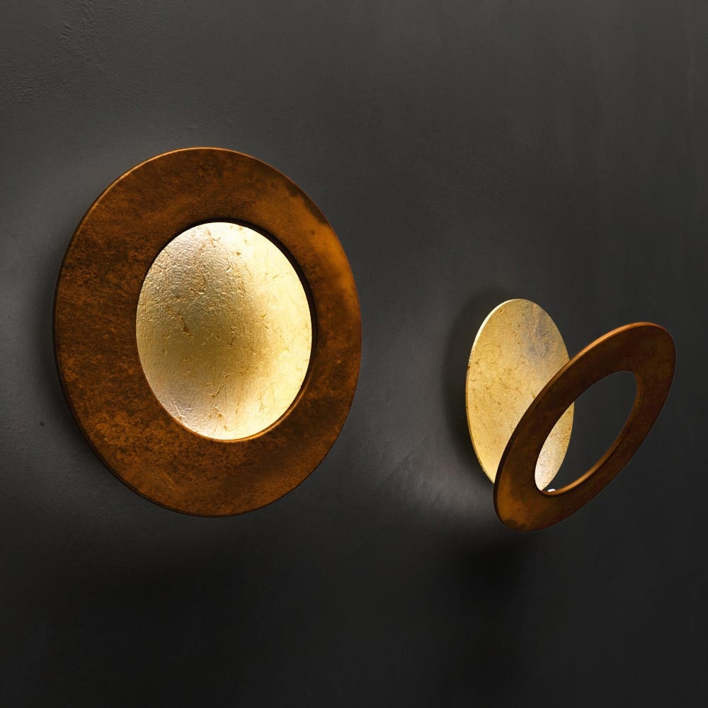 Icone LED Wandleuchte Vera Ø 21cm Gold, Rost
